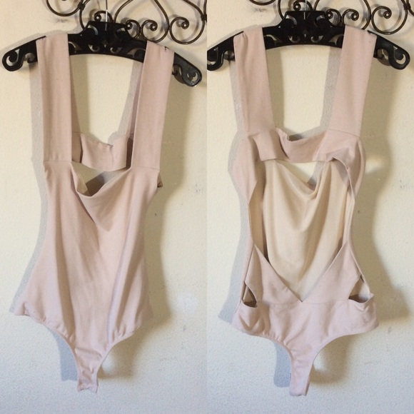 Free People Other - Intimately Free People Beige Leotard Open Back